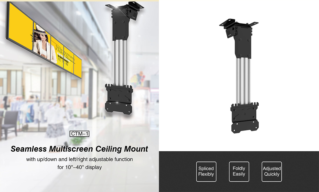 CTM-1 Flip Down Ceiling Video Wall Mount