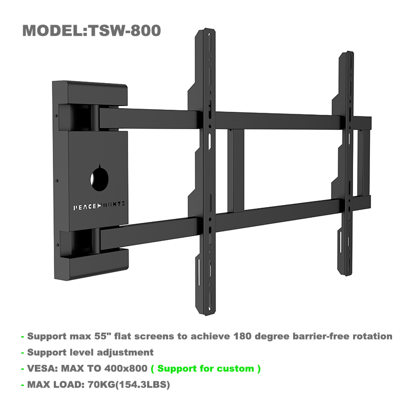 Rotate 180 degrees Articulating TV Wall Mount