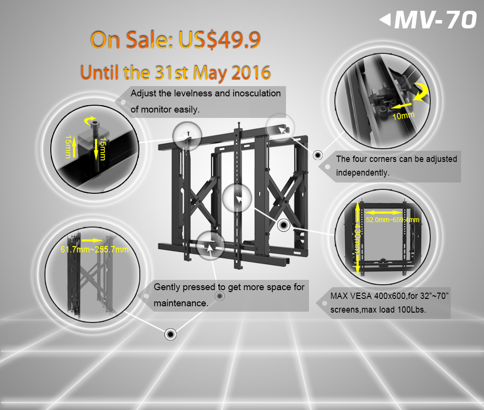 MV-70 video wall mount
