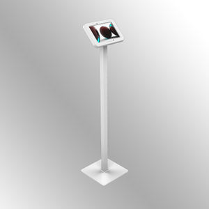 TFS-10 VESA Ipad/with arc circle enclosure Tablet Floor Stand