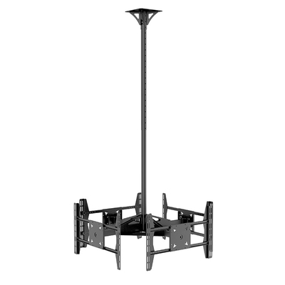 PRT-4 Multi-Directional Flip Down Height Adjustable Lift Ceiling TV Mount Bracket For Four Screens