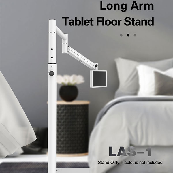 LAS-1 Flexible long arm tablet floor stand